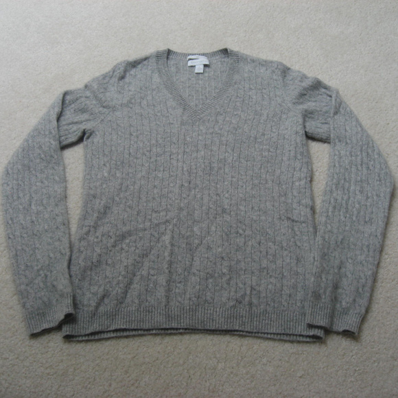 Charter Club Sweaters - Charter Club 100% Cashmere Gray Sweater Small